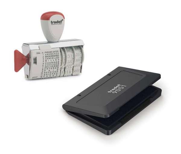 Bundle: Trodat Classic Wortbandstempel 1117 inkl. Stempelkissen schwarz