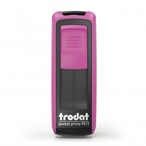 Kontaktdaten-Stempel / Corona-Stempel / Trodat Pocket Printy 9511 Fuchsiapink