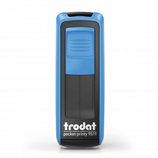 Kontaktdaten-Stempel / Corona-Stempel / Trodat Pocket Printy 9511 Blau
