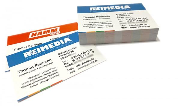 Visitenkarten inkl. Gestaltung 300 g/m² (85x55 mm)